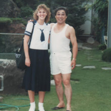 30 Years of Memories - going off to school in my new uniform!
